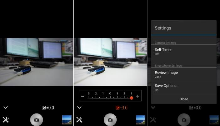 If you want to use your smartphone as the viewfinder, you have to set this in in the camera before launching the app on your phone.
