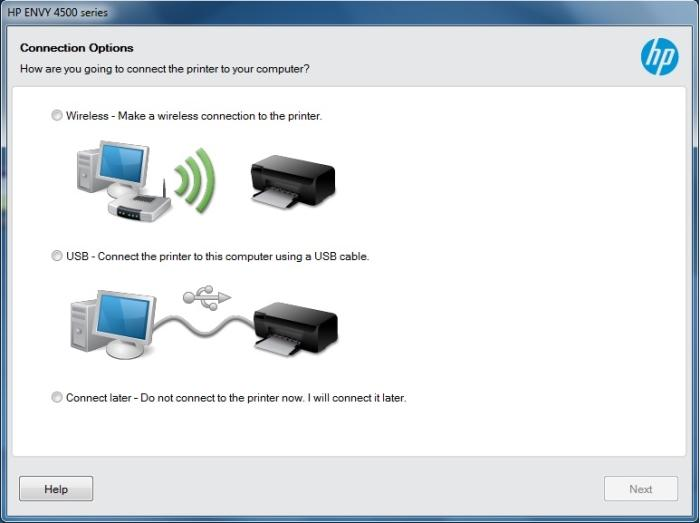 Use Wi-Fi unless you will only be printing from your computer from a desktop PC using USB.