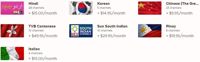 World TV channels.