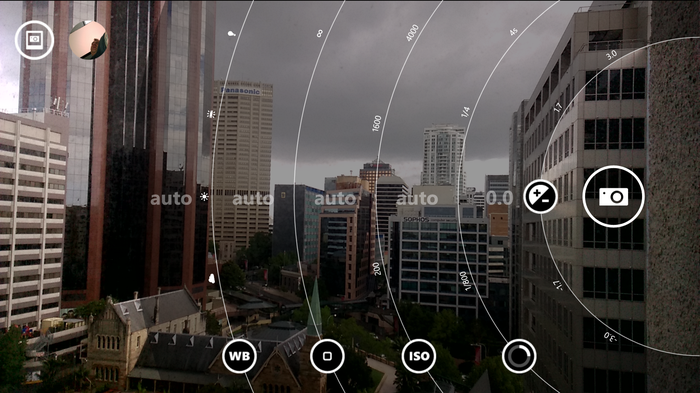Nokia's Camera app combines previous Smart Cam and Pro Cam apps.