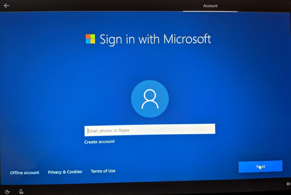 You may see the Windows 10 Out of the Box Experience (OOBE) when the upgrade completes, together with encouragement to sign in with a Microsoft account