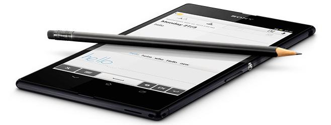 You can use any pen or pencil as a stylus on the Xperia Z, provided the tip diameter is over 1mm.