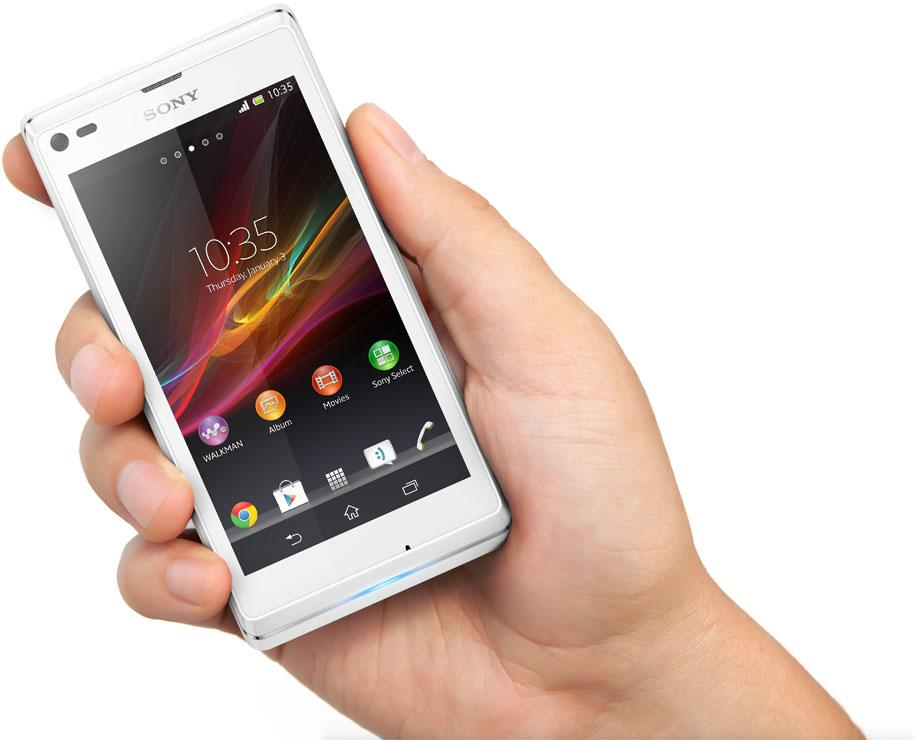 """Sony claims the Xperia L """"is neither too big nor too small""""."""