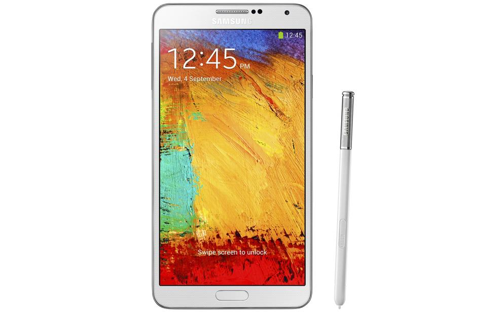 The Galaxy Note 3 has a 5.7in Super AMOLED display.