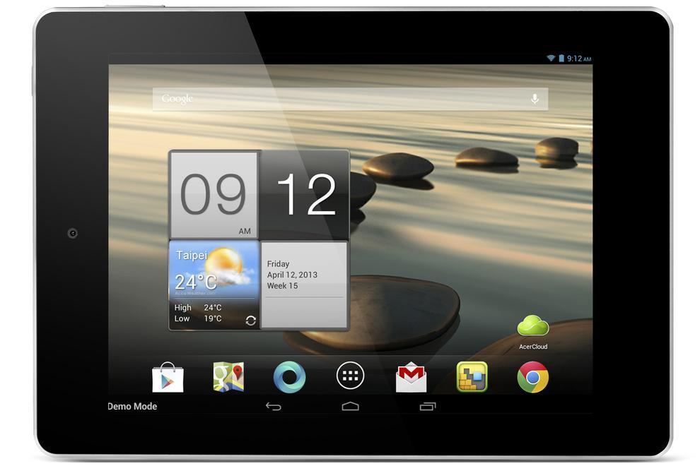 The Iconia A1-810 has the same size screen as the Apple iPad mini.