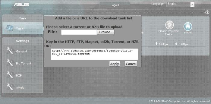You can download torrent files directly to attached hard drives by using the router's Download Master application.