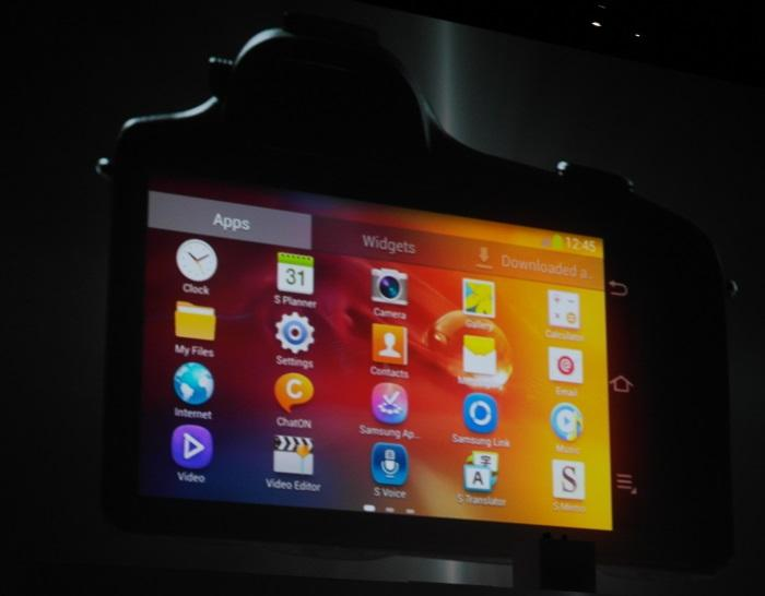 The Galaxy NX Android interface.