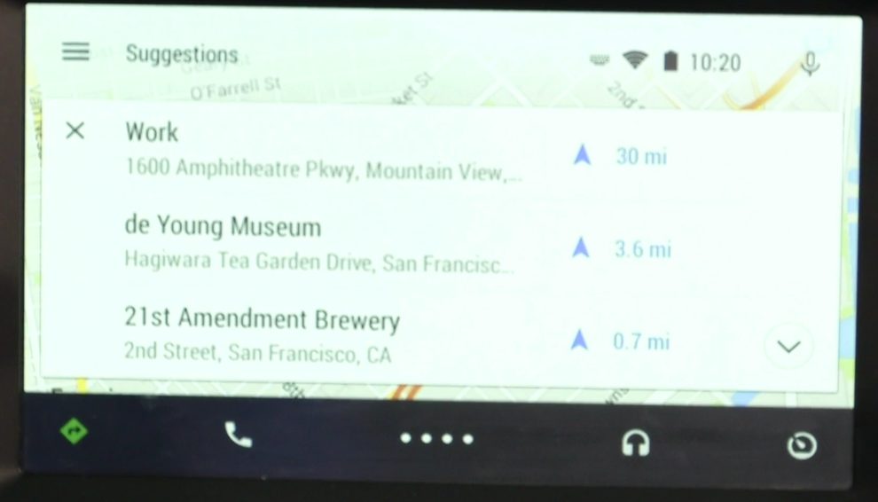 Navigation can configured without taking your hands off the wheel