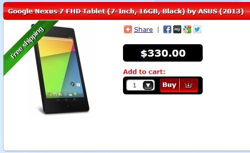Australian online store dMavo ships the Nexus 7 from Sydney and includes a tax invoice.