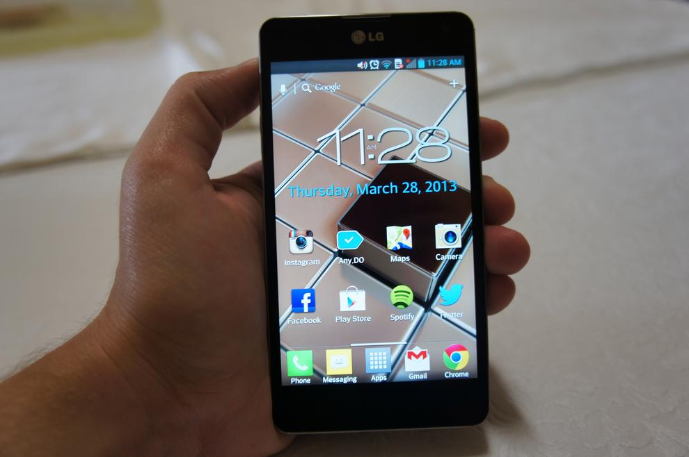 The Optimus G is comfortable to hold and feels well designed.