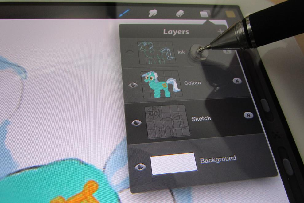 In addition to drawing and painting, the Jot Pro (or any stylus, for that matter) can make operating small on-screen controls easier than by finger.