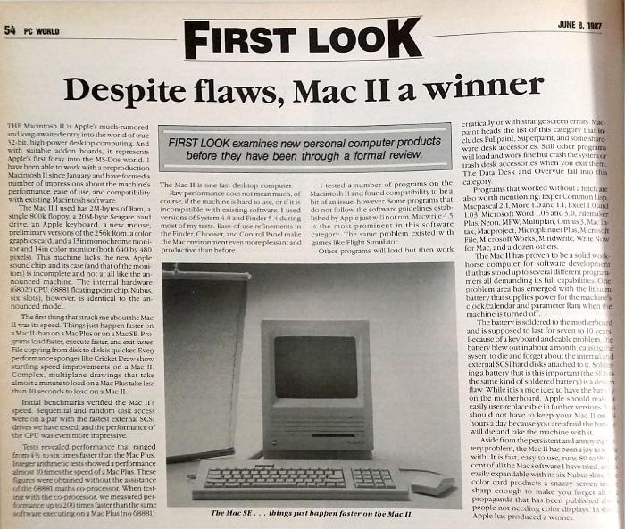 Page 54, <i>PC World</i>, June 1987