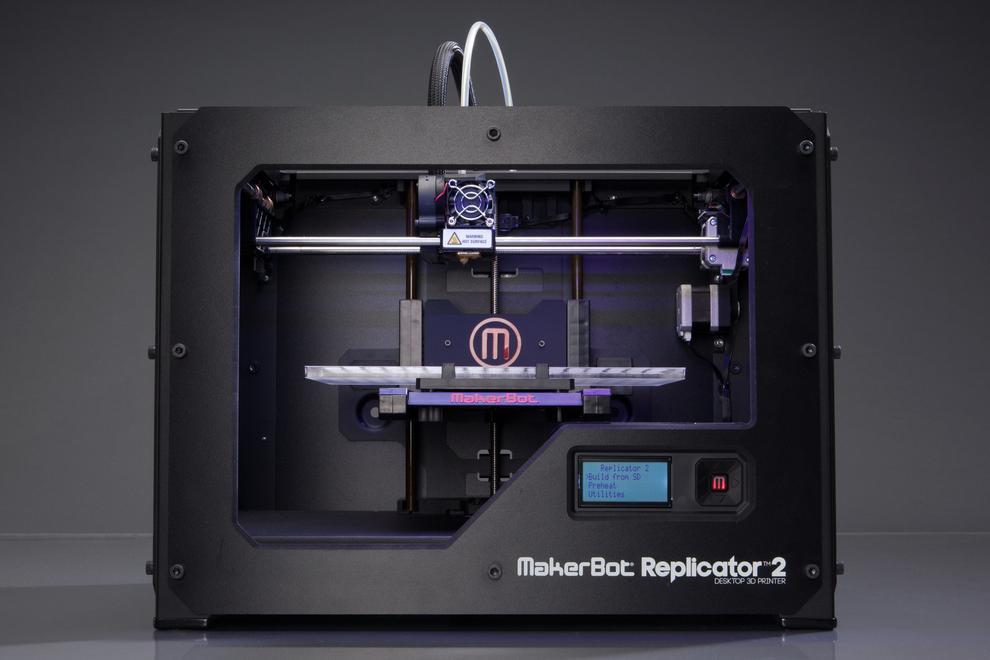 Makerbot's newest Replicator 2 3D printer.