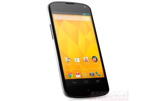 The white Google Nexus 4 (Image credit: AndroidPolice.com)