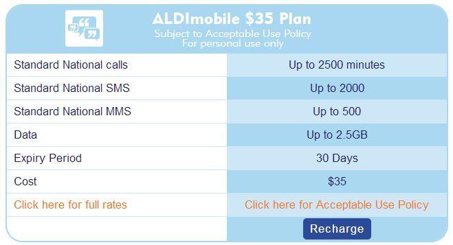 """Aldi Mobile's $35 plan is no longer """"unlimited""""."""