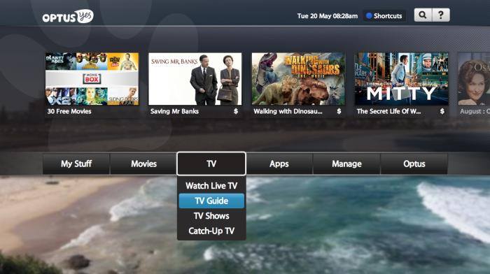 The main menu interface.