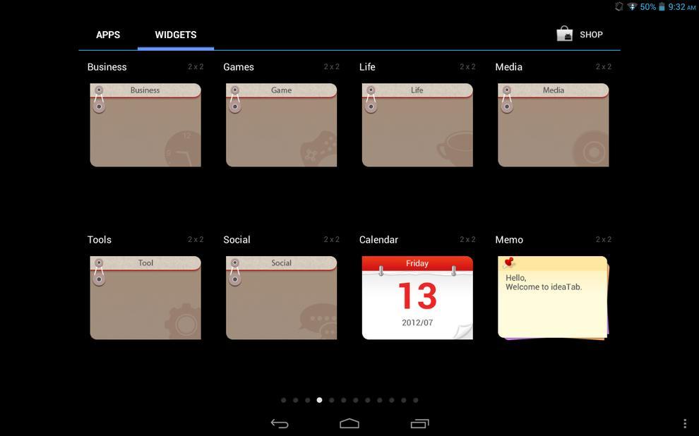 Lenovo's custom widgets are more like folders that group relevant applications