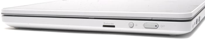 The right side, which has the audio port and the microSD card slot.