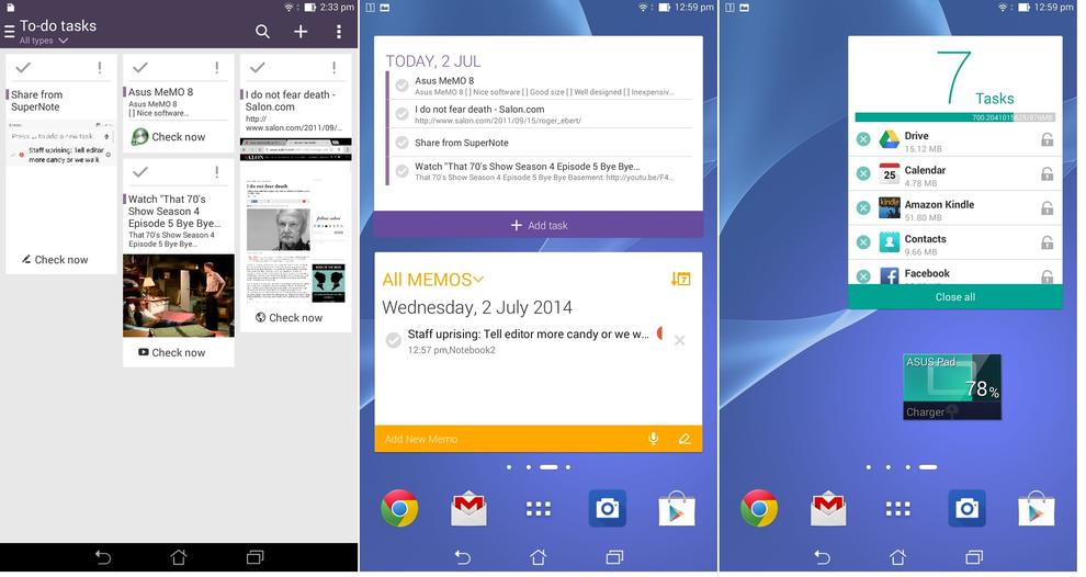 Do it later as seen from the application, followed by some of Asus' widgets