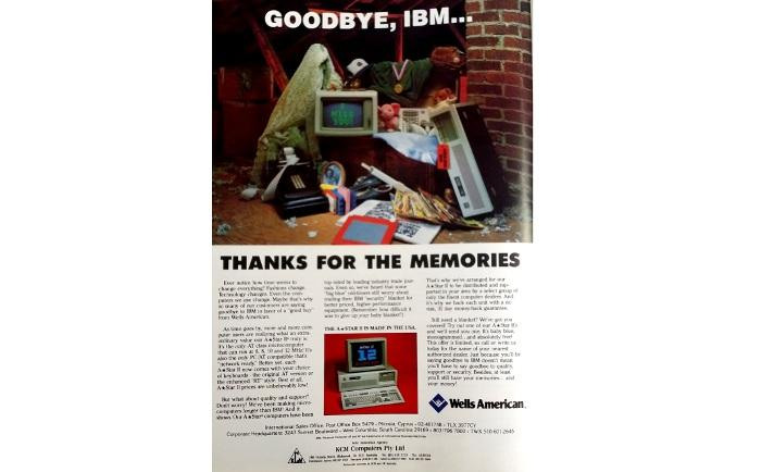 Inside front cover, <i>PC World</i>, March 1987