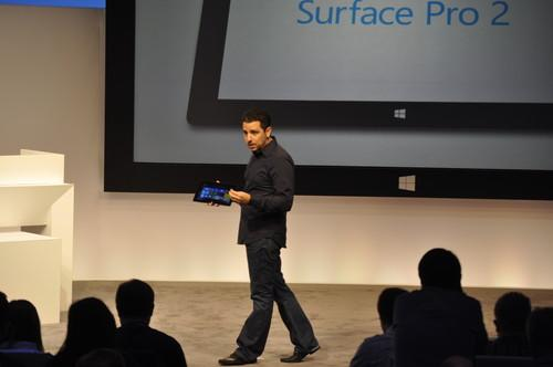 Microsoft Vice President of Surface Panos Panay introduces the Surface Pro 2.