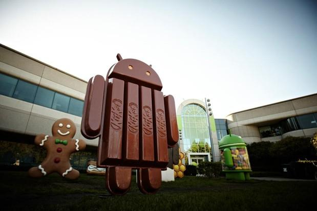 The Android KitKat statue on Google's corporate lawn.