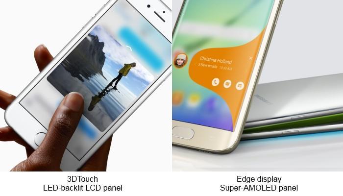 Apple iPhone 6s versus Samsung Galaxy S6 Edge