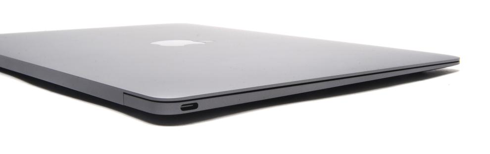 The USB-C port and an auxiliary port are the only two ports on the MacBook