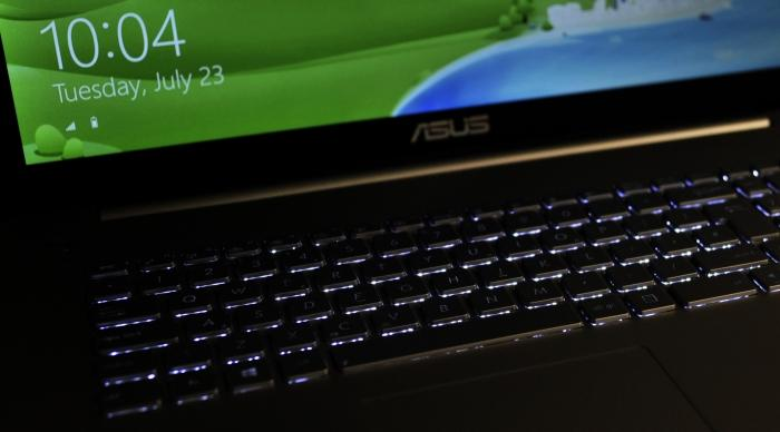 The keyboard backlight can be visible under the keys depending o how you sit, which can be distracting.