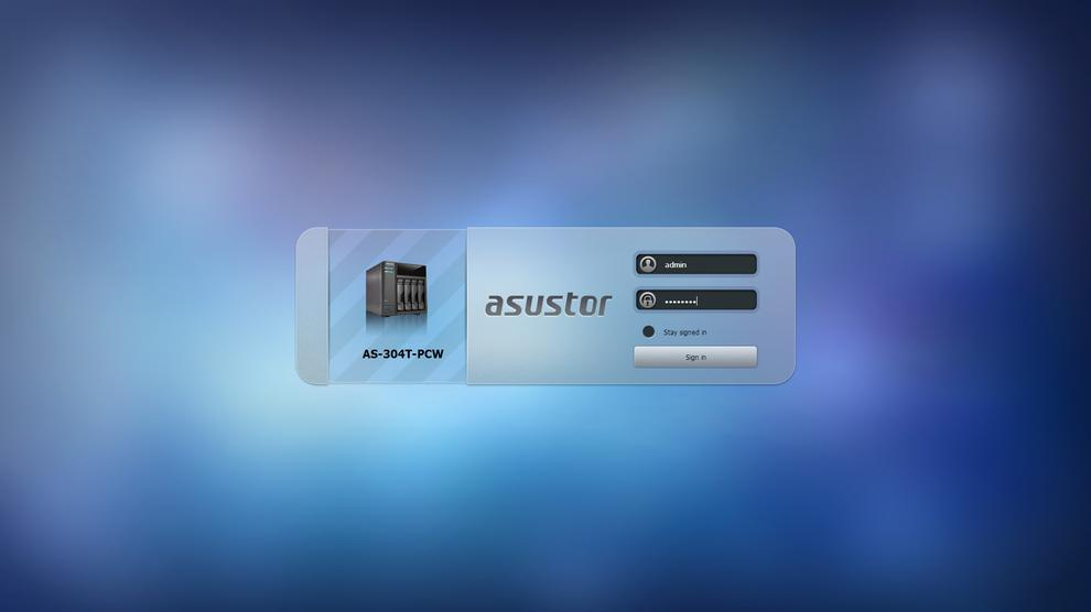 To manage apps and settings, users can log in to the AS-304T's browser-based interface.