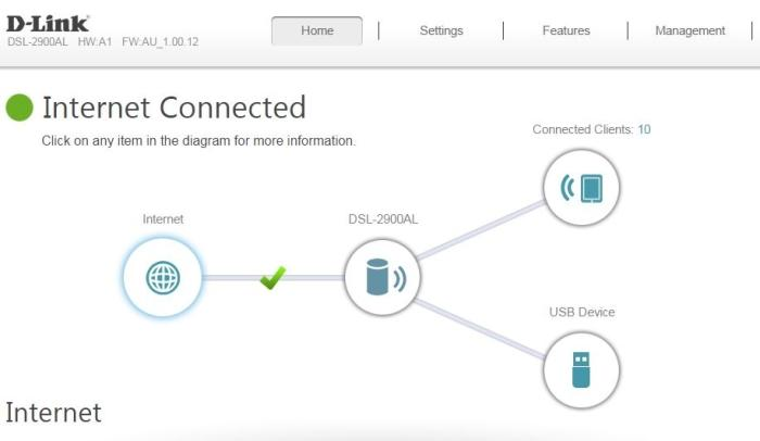 The main interface is neat and you can see at a glance if there are any problems with your connection.