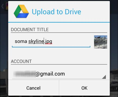 Upload your photos to Google Drive and get at them from anywhere.