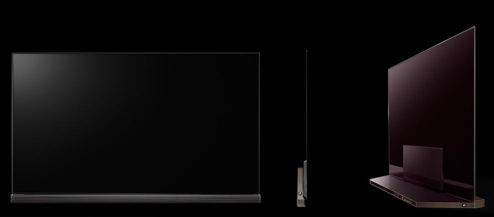 """The LG 2016 OLED G-Series """"Signature Edition"""" is stylish from every angle and has a great sound bar."""