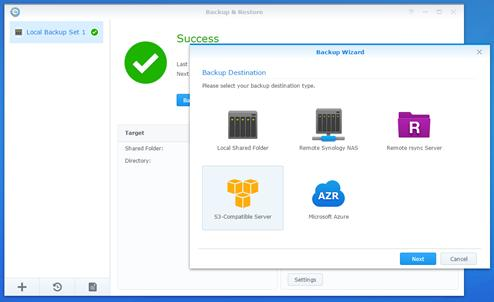 With built-in backup applications such as Synology's Cloud Station Backup, you can automatically back up selected folders, specified file formats or even an entire disk to your NAS.