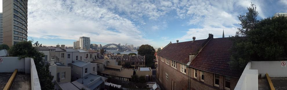 The sweep-panorama function worked better than some much-more expensive phones.