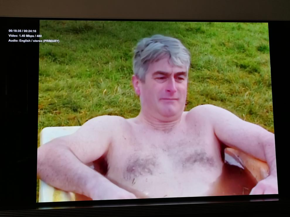 Father Ted in 480i looked impressive on the 65-inch screen - that's some seriously good upscaling.