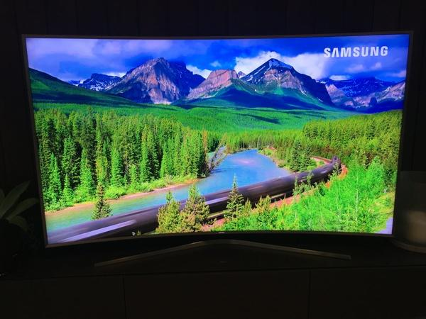 Samsung's 88-inch monster is a wall of colour.