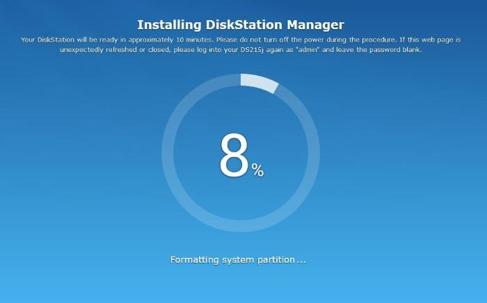 Installing DSM 5.1.