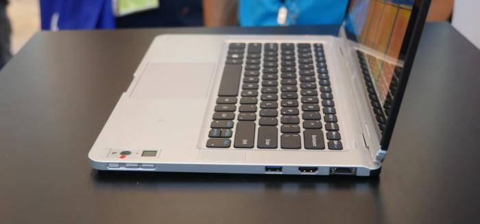 This laptop was charging with no wires in sight.