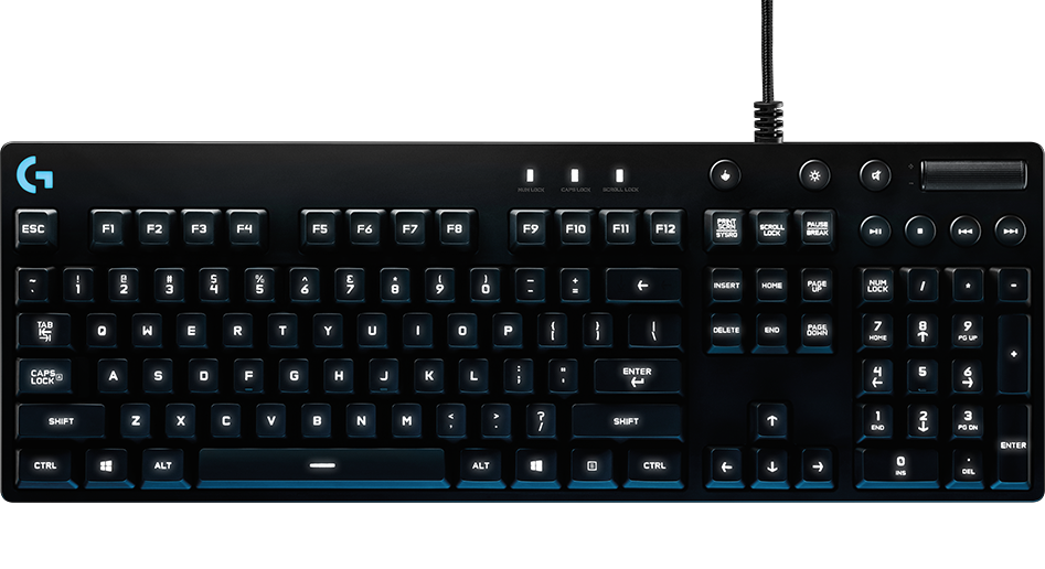 The G810 is the best all-round keyboard we tested - great for typing and gaming. It looks good too.