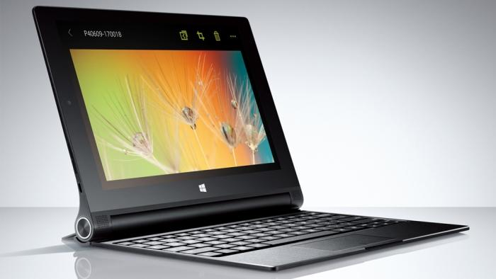 A Windows 8 version of the Yoga Tablet 2 comes with a keyboard and is aimed at those of you want to be productive (well, as productive as a small tablet will allow anyway).