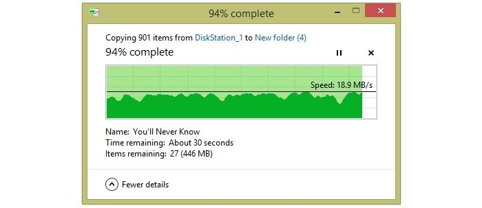 Small file transfer from 15m away.