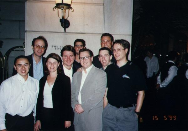 The GT Interactive team at E3 1997 in Los Angeles.