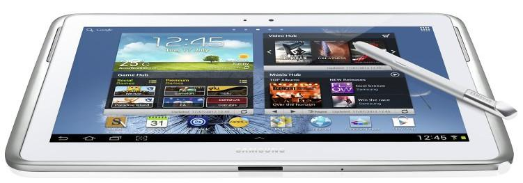 The largely plastic construction means the Samsung Galaxy Note 10.1 weighs in at just 600g, less than the new iPad.
