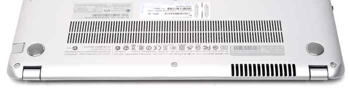 The vents are on the underside of the laptop and the fan noise can be substantial.