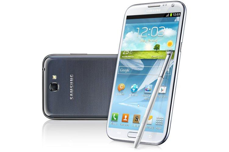 The Samsung Galaxy Note II borrows much of its design inspiration from the company's flagship Galaxy S III smartphone.