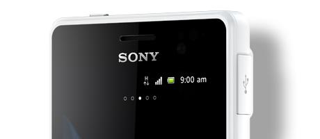 """The Xperia go measures less than 10mm thick and Sony says it proves that rugged phones """"don't need to be thick or ugly anymore""""."""