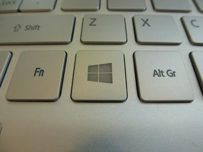 The stylish Windows key.