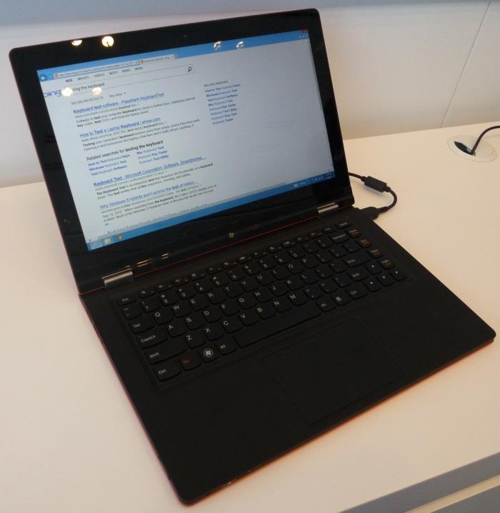 Lenovo's hybrid Ultrabook also looks like a regular laptop.