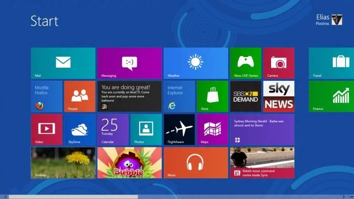 The Windows 8 Start screen replaces the traditional, and constrained Start Menu.